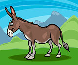 donkey farm animal cartoon illustration