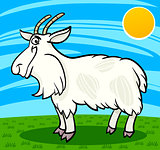 hairy goat farm animal cartoon illustration