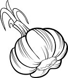 garlic vegetable cartoon for coloring book
