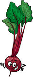 cute beet vegetable cartoon illustration