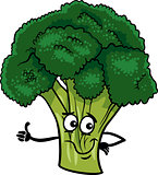 funny broccoli vegetable cartoon illustration