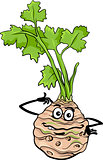 funny celery vegetable cartoon illustration