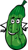 cute cucumber vegetable cartoon illustration