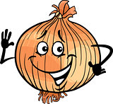 cute onion vegetable cartoon illustration