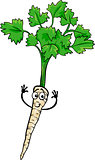 cute parsley root vegetable cartoon illustration