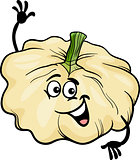 funny patison vegetable cartoon illustration