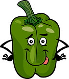 cute green pepper cartoon illustration