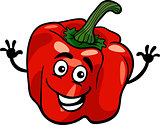cute red pepper vegetable cartoon illustration