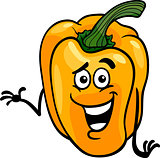 cute yellow pepper cartoon illustration