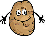 cute potato vegetable cartoon illustration