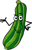 funny zucchini vegetable cartoon illustration