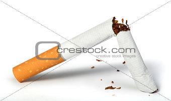Crumpled cigarette