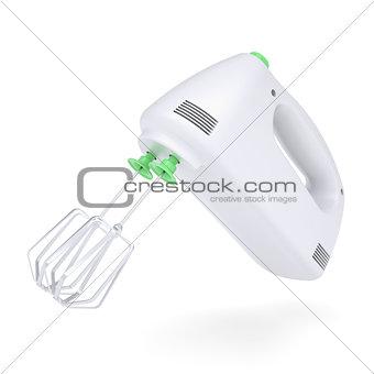 White hand mixer