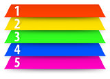 Abstract numbered color banners template