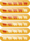 Rating carts like rating stars design elements