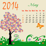 Calendar for 2014 May