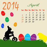 Calendar for 2014 April