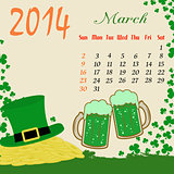 Calendar for 2014 March