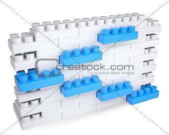 Wall made of bricks