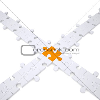 Puzzle white and orange