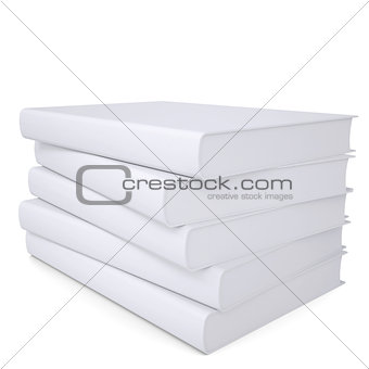 A stack of white papers