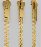 Closed lock zipper