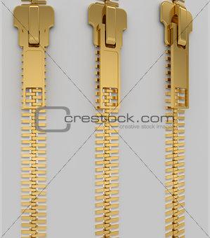 Closed lock zipper