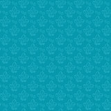 Blue Flower Silhouette Seamless Pattern