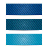 Blue Demin Banner Set