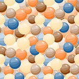 Seamless Background with Red Blue Yellow Bubble Balls