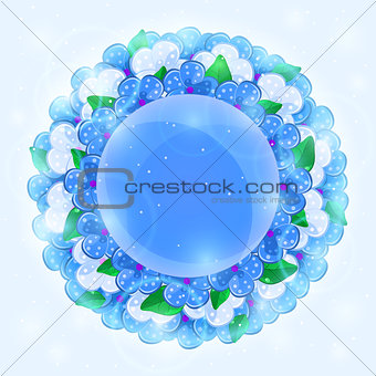 Illustration of Floral Round Frame