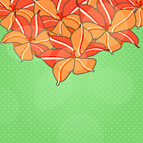 Vector Autumn Floral Card