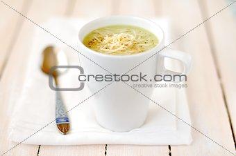 Broccoli, Potato and Cheese Soup