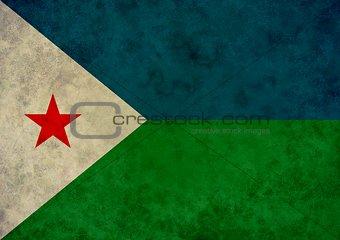 Grunge Djibouti Flag