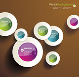 Abstract 3d circles background design
