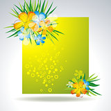 illustration of set of colorful flower in banner 