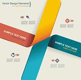 Modern origami style options banner. Vector illustration.