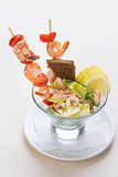 Salad from seafood
