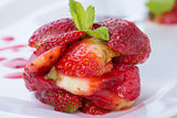 Beautiful strawberries dessert