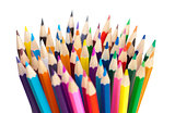 color pencils bunch macro shot