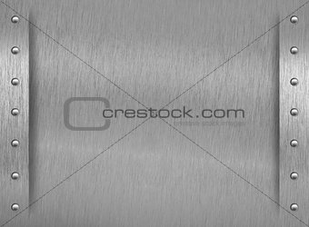 Aluminum texture with border and rivets
