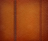 brown leather background. Vector illustration.