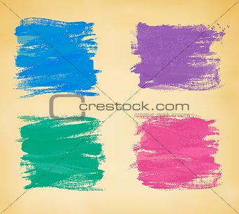 Abstract banners with watercolor splashes. Vector