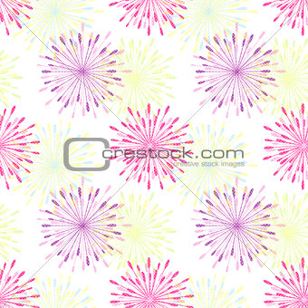 Springtile Colorful Flower Seamless Pattern
