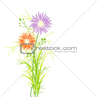 Springtime Colorful Flower Greeting Card