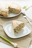 Savoury pie with ricotta cheese and artichokes