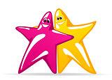 Smiling glossy stars