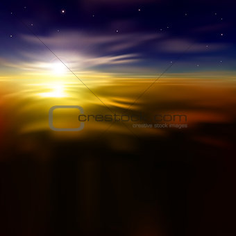 abstract background with sunrise and clouds