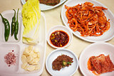 Korean side dishes in seoul restaurant