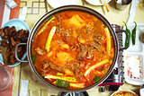 Korean kimchi duck stew